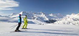 Zicht over het skigebied Arabba Italië aangeboden door Josk skireizen